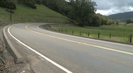 Biking Curve Stock Footage