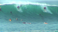 Stock Video Footage of Surfer At Honolua Bay 1