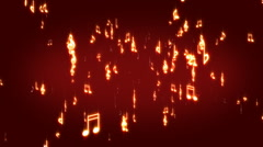 Abstract musical background Stock Footage