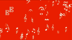 Music Notes background symbol melody melody sound romantic artistic symphony. Stock Footage
