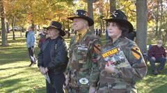 Vietnam Veterans Stock Footage