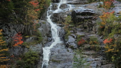 Silver Cascade tilt down, White Mountains, New Hampshire - stock footage