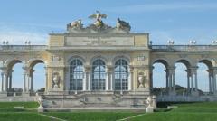 Gloriette at Schonbrunn Garden Stock Footage