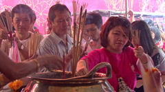 Incense On Chinese New Years Stock Footage