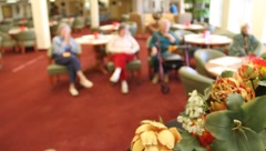 Retirement home entertainment Stock Footage