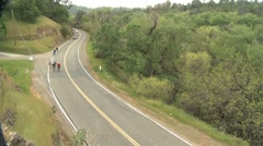 Biking the California countryside. Stock Footage