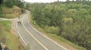 Biking the California countryside. Stock Footage