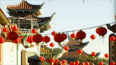 3D Stereoscopic Chinatown 02 Timelapse TU L Eye Stock Footage