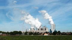 Lignite-fired power plant Niederaussem, Germany Stock Footage
