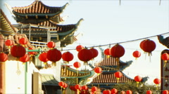 3D Stereoscopic Chinatown 02 Timelapse TU R Eye Stock Footage