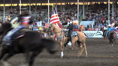 American flag at rodeo - stock footage