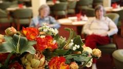 Elderly women enjoying music Stock Footage