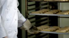 Female Baker Stock Footage