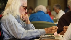Elderly women drinking tea Stock Footage