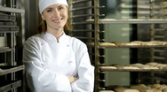 Female Baker Stock Footage