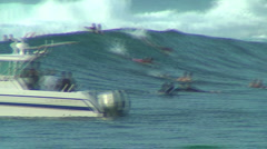 Pro Surfer 6, Honolua Bay  Stock Footage