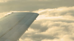 Wing in the clouds Stock Footage