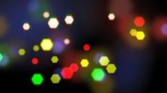 Seamless loop blurred lights Stock Footage