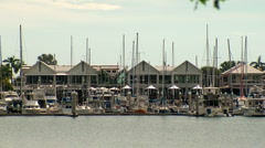 cullen bay marina moorings - stock footage