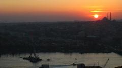 Sunset Istanbul Stock Footage