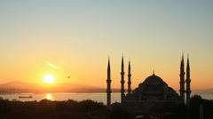 Blue Mosque - stock footage