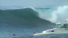 A Big Set Washes Through Honolua Bay Stock Footage