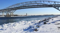 Blue Water Bridge Winter HD Footage