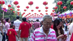 Chinese New Year Crowds Stock Footage