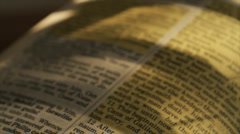 Pan john 16 in bible Stock Footage
