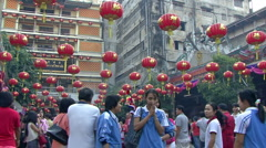 Expressing Devotion At Chinese New Year - stock footage