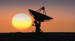 VLA Sunset Time Lapse Stock Footage