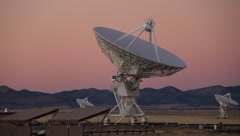 Very Large Array VLA Dusk - stock footage
