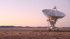 Very Large Array VLA Twilight Stock Footage