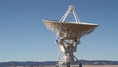 Very Large Array Dish Calibrating Stock Footage
