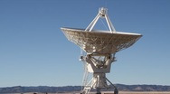 Stock Video Footage of Very Large Array Dish Calibrating