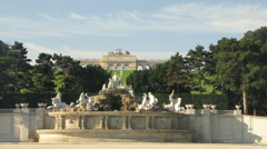 Gloriette at Schonbrunn Garden Stock Footage