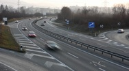 Cars on highway timelapsed Stock Footage