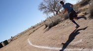 Outdoor jogger Stock Footage