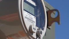Electrical meter - stock footage
