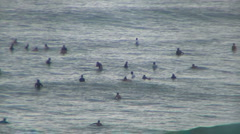 Crowded Day At Honolua Bay Stock Footage