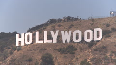 24p CU Hollywood sign Stock Footage