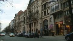 Street in Berlin Stock Footage