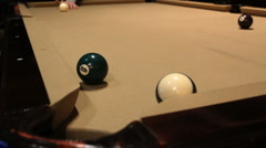Billiards - Corner Pocket Stock Footage