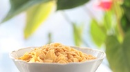 Stock Video Footage of Cornflakes with milk