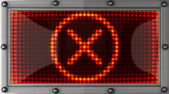 Stock Video Footage of cancel announcement on the LED display