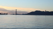Stock Video Footage of SF Golden Gate Bridge Sunset MVI 3492
