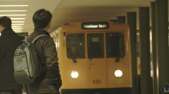Boarding the train Stock Footage