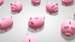 Piggy banks Stock Footage
