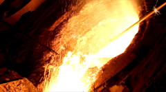 Hard work in the Foundry - stock footage
