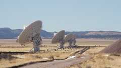 Very Large Array Railway Views Stock Footage